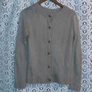TAN BUTTON UP CARDIGAN